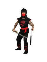 View Item Child Ninja Warrior Fancy Dress Costume Karate Samurai Martial Arts Assassin