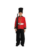 View Item Child Palace Guard Fancy Dress Costume Royal Soldier Buckingham British