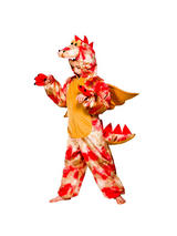 Child's Red Dinosaur Costume