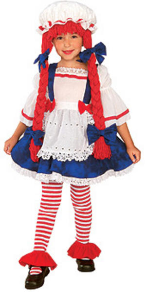 Age 1 - 2 Child Toddler Rag Doll Girl Fancy Dressl Little Miss Muffet Costume