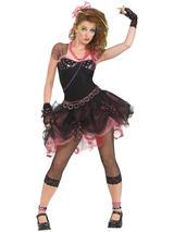 Ladies 80s Diva Black Tutu Costume