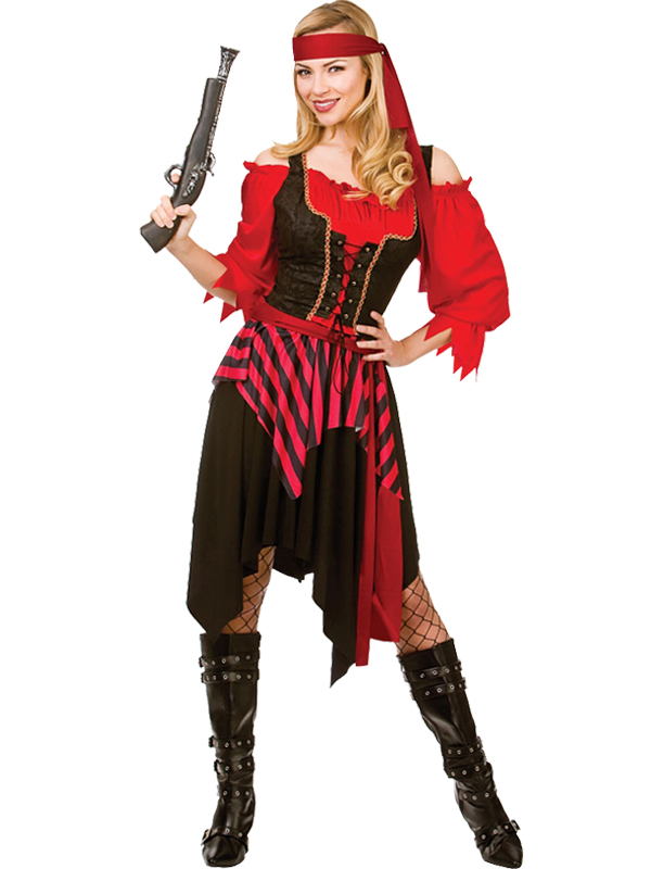 Adult-Shipwrecked-Pirate-Fancy-Dress-Costume-Caribbean-Wench-Ladies-Womens