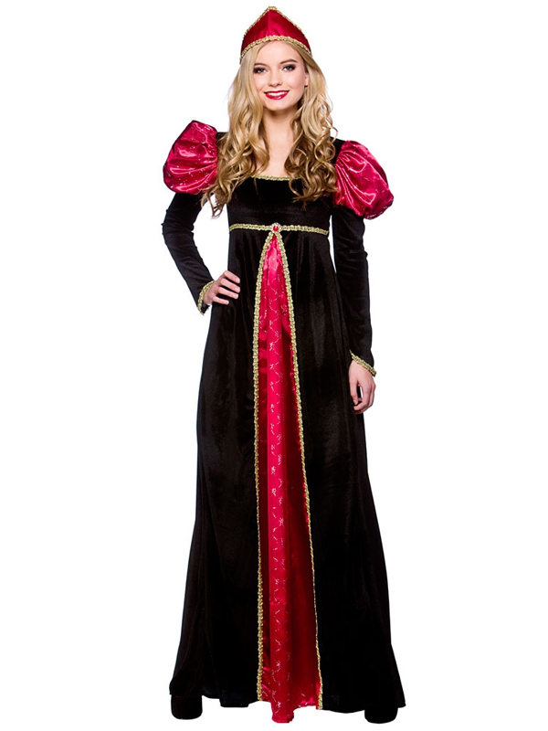 Ladies Medieval Queen Period Fancy Dress Costume Inc Plus Size Tudor