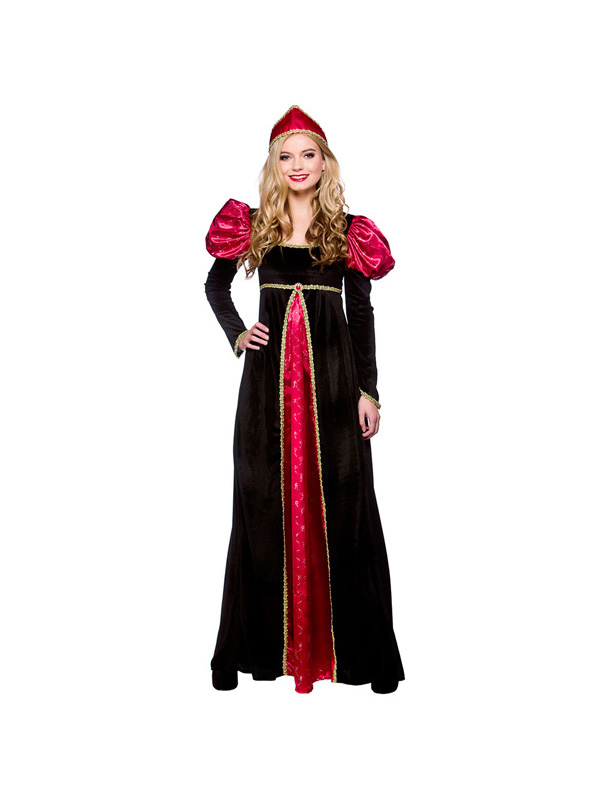 Adult-Medieval-Queen-Fancy-Dress-Costume-Renaissance-Historical-Ladies-Womens