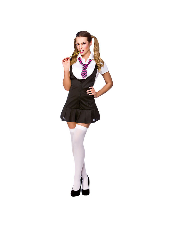 Naughty School Girl Ladies Fancy Dress Costume Sexy Hen Night College Outfit New | EBay