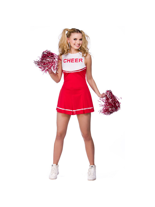 Adult-High-School-Cheerleader-Outfit-Fancy-Dress-Costume-Ladies-Uniform