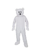 Adult's Polar Bear Mascot Costume