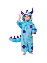 View Item Child Toddler Blue Monster Fancy Dress Costume Halloween Wild Animal Boys Girls
