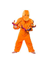 View Item Child Octopus Fancy Dress Costume Squid Sea Ocean Wildlife Zoo Kids Boys Girls