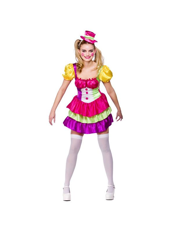 erwachsene s clown kost m zirkus kost m carnival damen. Black Bedroom Furniture Sets. Home Design Ideas
