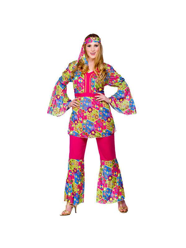 Ladies Feelin' Groovy Hippie Costume Thumbnail 2