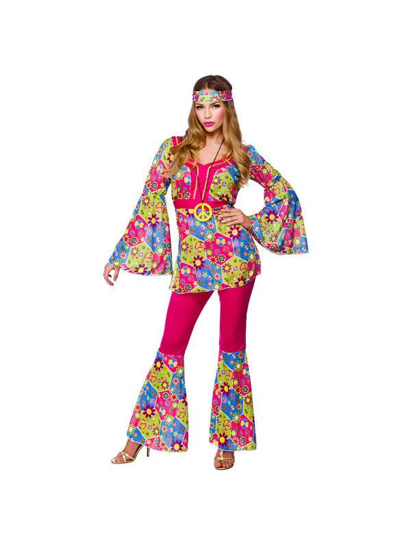 Ladies Feelin' Groovy Hippie Costume Thumbnail 1