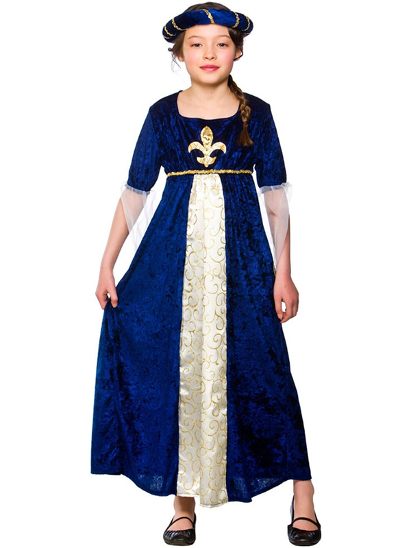 Girl's Tudor Princess Blue Costume