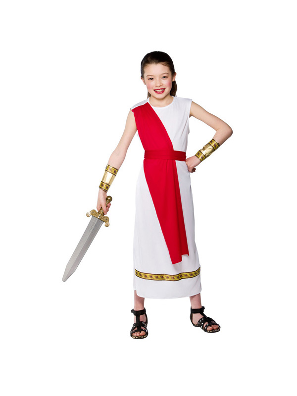 Girl's Roman Soldier Costume