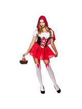 View Item Adult Sexy Little Red Riding Hood Fancy Dress Costume Storybook Ladies