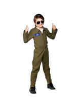 View Item Child Airforce Pilot Fancy Dress Costume Top Gun Aviator Kids Boys