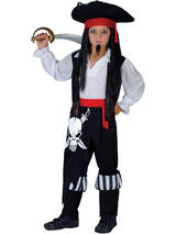 View Item Child Captain Blackheart Fancy Dress Costume Book Week Pirate Kids Boys