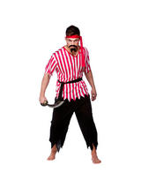 View Item Adult Shipmate Pirate Fancy Dress Costume Caribbean Buccaneer Mens Gents Male