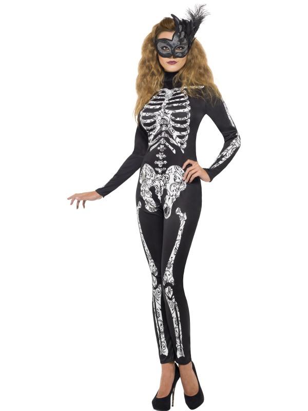 Ladies Fever Soleil Skeleton Costume Skeleton Fancy