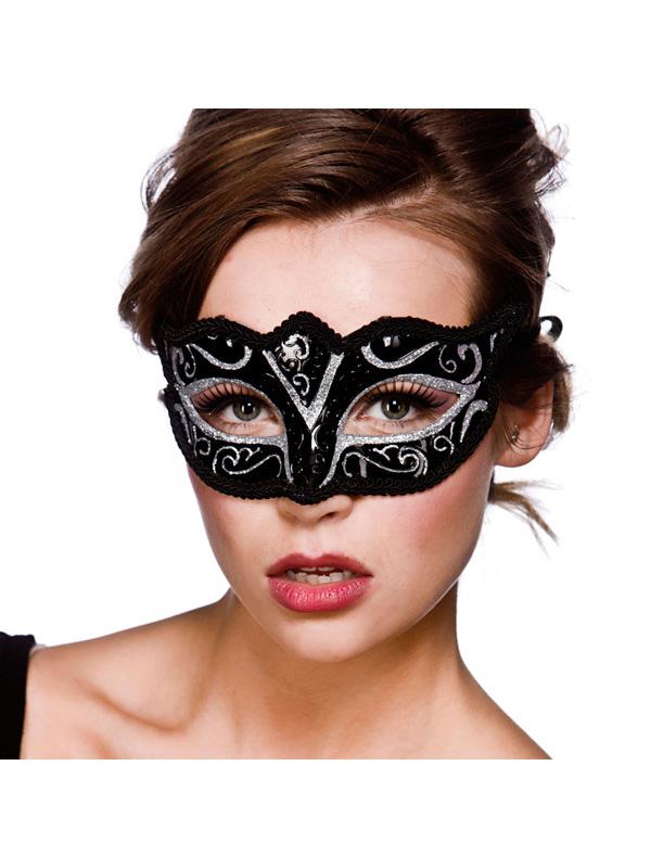 Verona Eye Mask - Silver Glitter