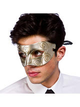 Venetian Antique Silver Eye Mask