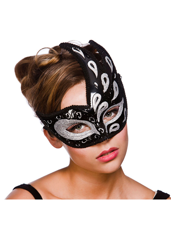 Livorno Eye Mask -  Black And Silver