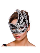 Livorno Eye Mask -  Silver And Black