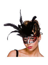 Firenze Eye Mask -  Silver And Red