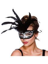 Milano Eye Mask - Silver & Silver