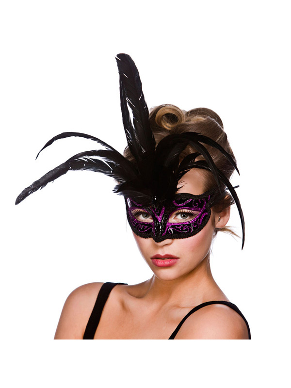 Milano Eye Mask - Black And Purple