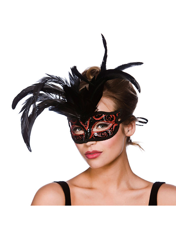 Milano Eye Mask - Black And Red