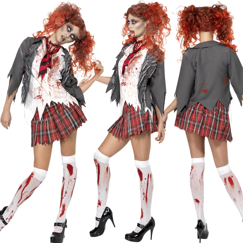 Adult,Zombie,Ladies,Costume,and,Tights,Halloween,Fancy,