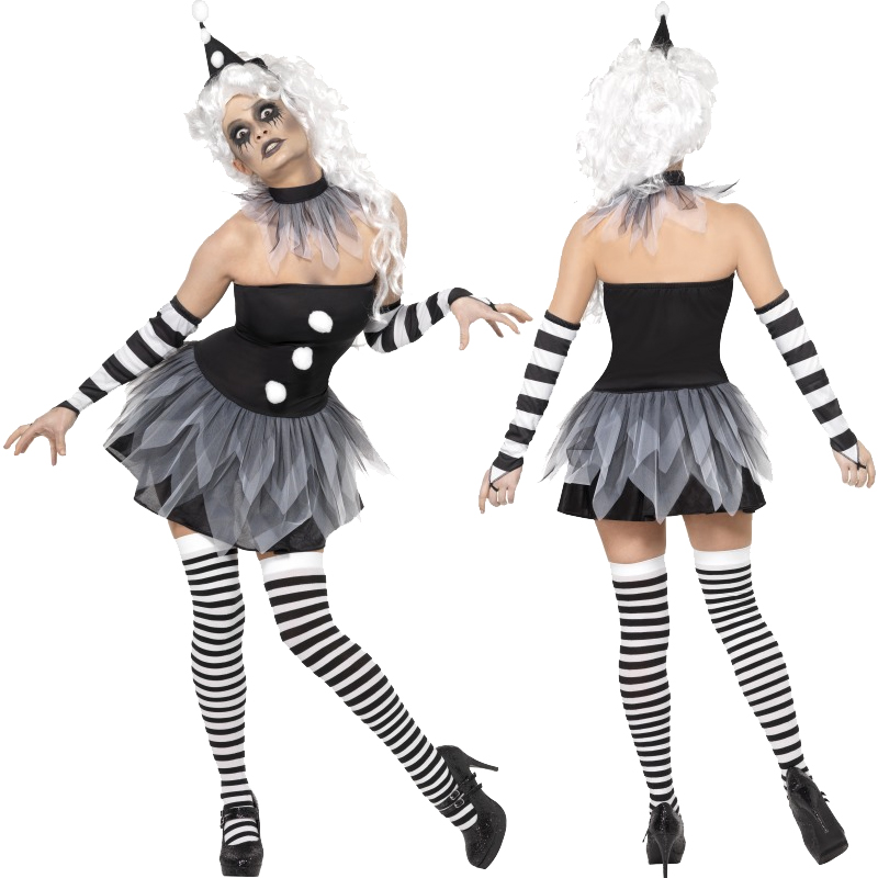 Adult-Halloween-Fancy-Dress-Outfit-Ladies-Costume-Wig-Stockings-Tutu-Tights-New