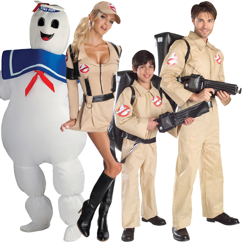 Halloween Ghostbuster Costume Kids Proton Pack Fancy Dress Outfit Overall New Ebay