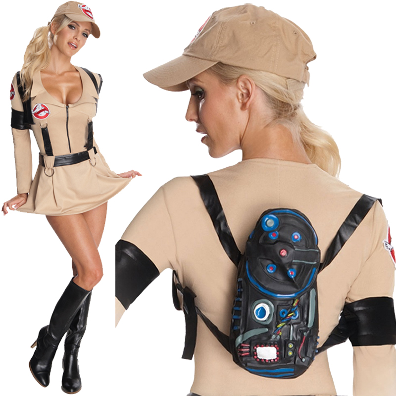 Halloween-Ghostbuster-Costume-Kids-Proton-Pack-Fancy-Dress-Outfit-Overall-New