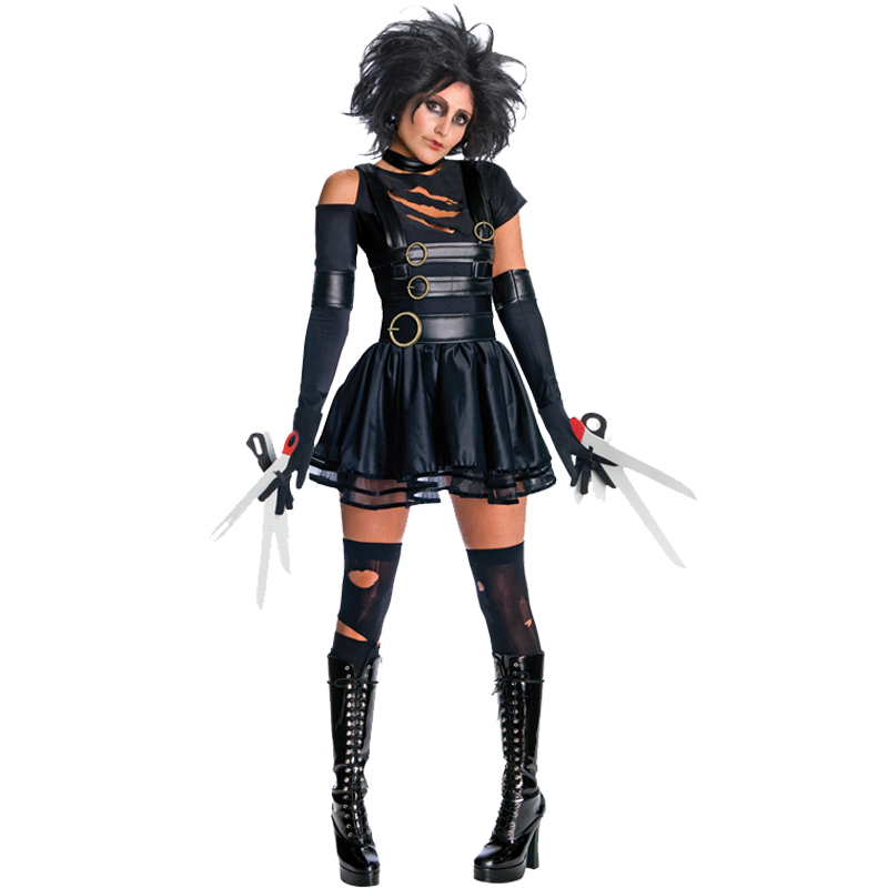 adult ladies halloween outfit sexy horror fancy dress. Black Bedroom Furniture Sets. Home Design Ideas