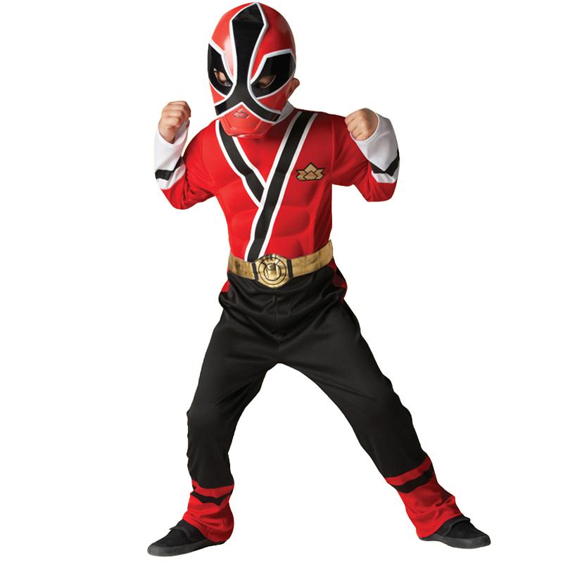Child Power Rangers Outfit Fancy Dress Costume Superhero Boy Kids ...