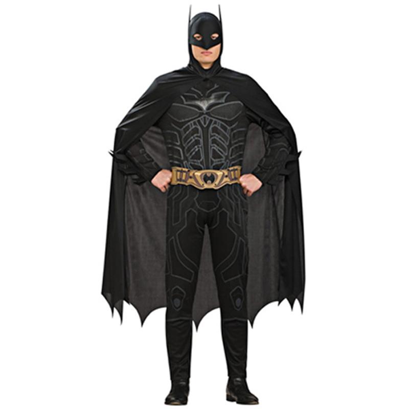 Adult-Dark-Knight-Licensed-Batman-Fancy-Dress-Costume-Halloween-Outfit-New-Mask
