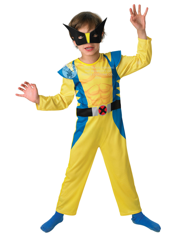 Child Marvel Wolverine Outfit Fancy Dress Costume Book Week