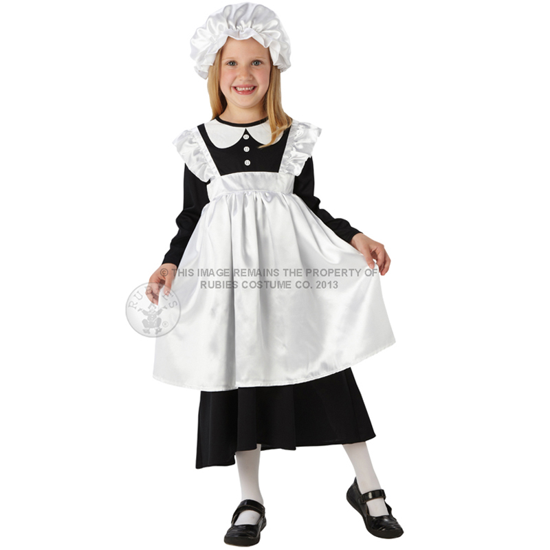 Child Victorian Poor Girl Fancy Dress Book Week Kids Maid ...