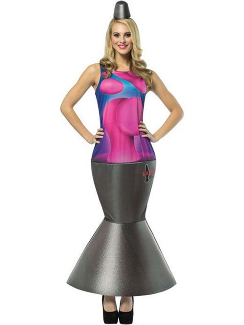 Adult One Size Lava Lamp Fancy Dress Costume Glow Light
