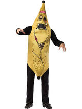 View Item Adult Zombie Banana Fancy Dress Costume Halloween Undead Mens Ladies Funny