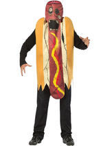 View Item Adult Zombie Hot Dog Fancy Dress Costume Halloween Undead Mens Ladies Funny