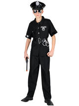 View Item Child New York Cop New Party Fancy Dress NYPD Police Boy Costume Uniform & Hat