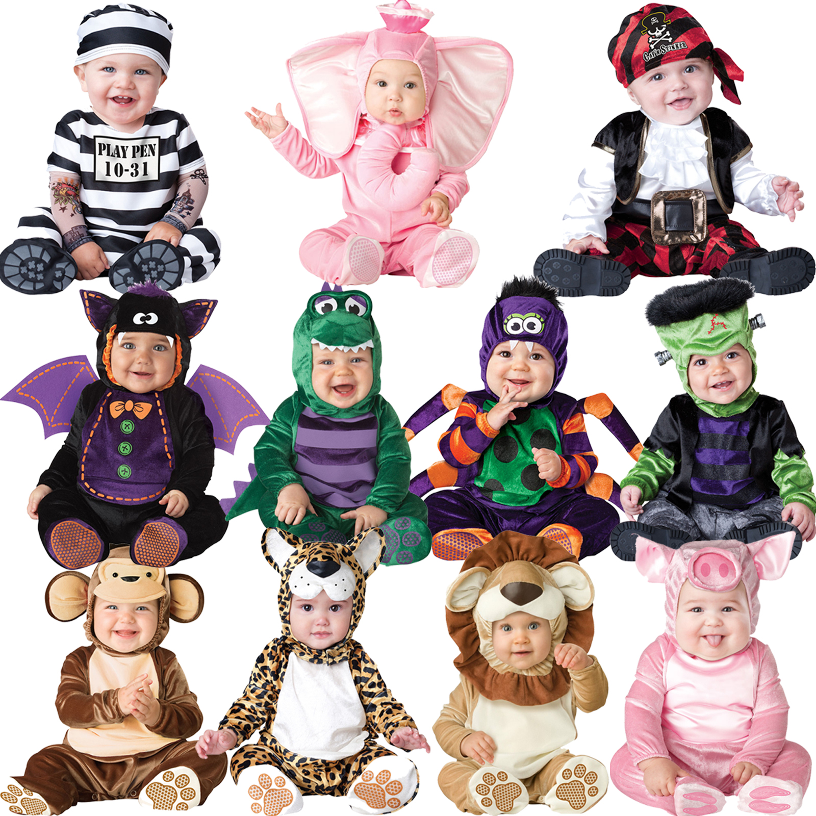 Baby-Halloween-Fancy-Dress-Up-Costume-Outfit-Animal-Boy-Girls-Babygrow ...