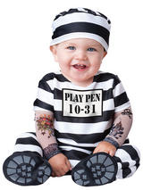 View Item Child Infant Time Out Fancy Dress Costume Halloween Convict Prisoner Inmate Kids
