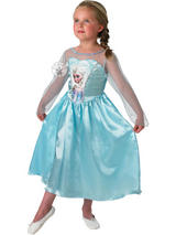 Girl's Disney Frozen Elsa Snow Queen Costume Thumbnail 1