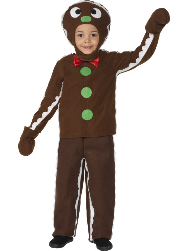 child little gingerbread man outfit fancy dress costume