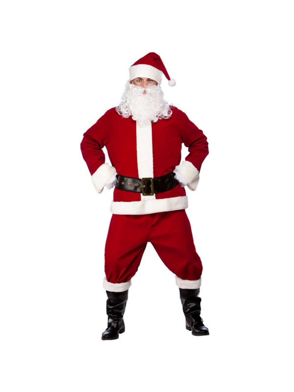 Adult professional santa suit fancy dress costume