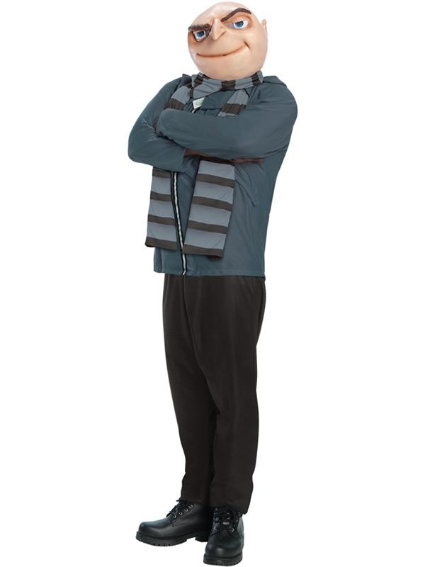 Adult Despicable Me Felonius Gru Outfit Fancy Dress Costume Minion Boss Gents